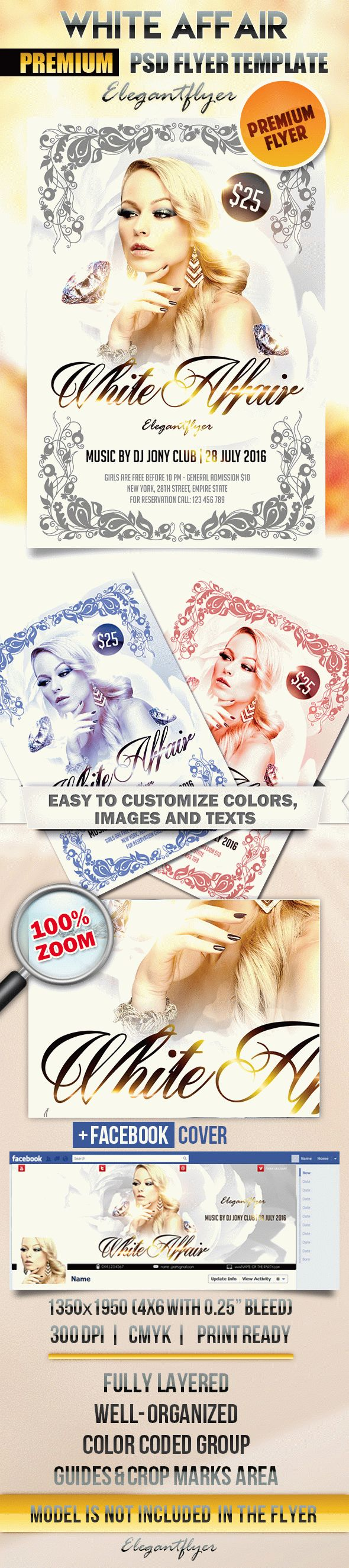White Affair – Flyer PSD Template + Facebook Cover