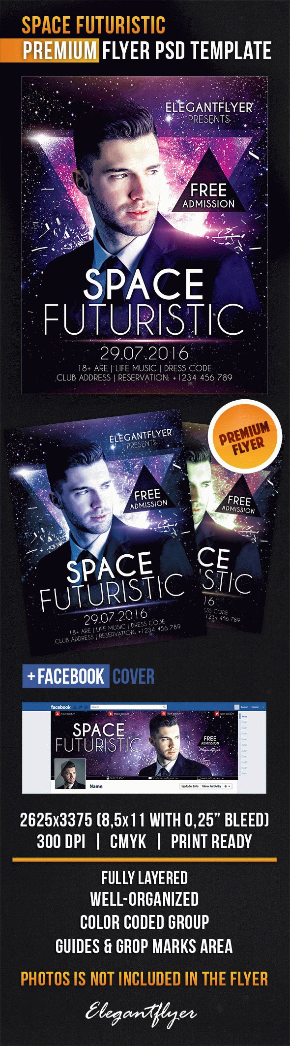 Flyer Template for Space Futuristic