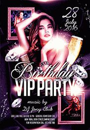 flyer for vip birthday party by elegantflyer