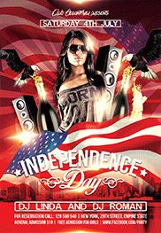 July 4th Independence Day – Flyer PSD Template
