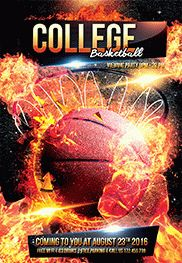 March College Basketball 2 – Flyer PSD Template