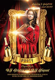 VIP party – Flyer PSD Template