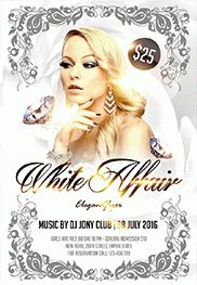 White Affair Flyer PSD Template