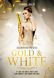 Gold & White – Flyer PSD Template