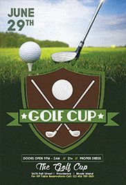 Golf Cup – Flyer PSD Template