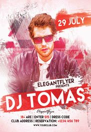 Guest Dj Party 2 – Flyer PSD Template + Facebook Cover