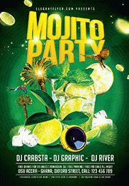 Mojito Party – Flyer PSD Template + Facebook Cover