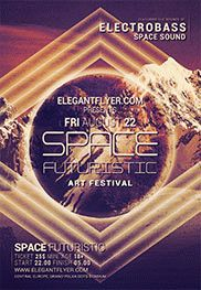 Space Sound – Flyer PSD Template