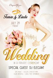 Wedding Design V02 Flyer PSD Template by ElegantFlyer