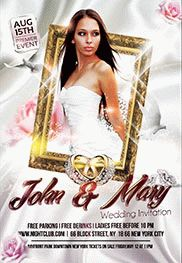 Wedding Ceremony Order of Event Flyer