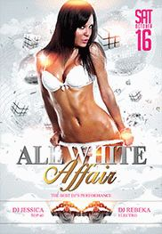 Flyer for White Affair Template