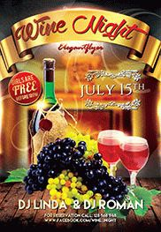 Wine Night – Free Flyer PSD Template