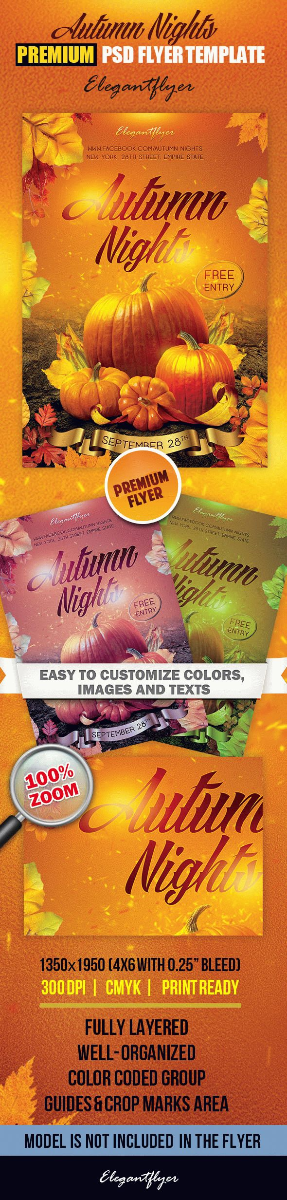 Autumn Nights – Premium Club flyer PSD Template