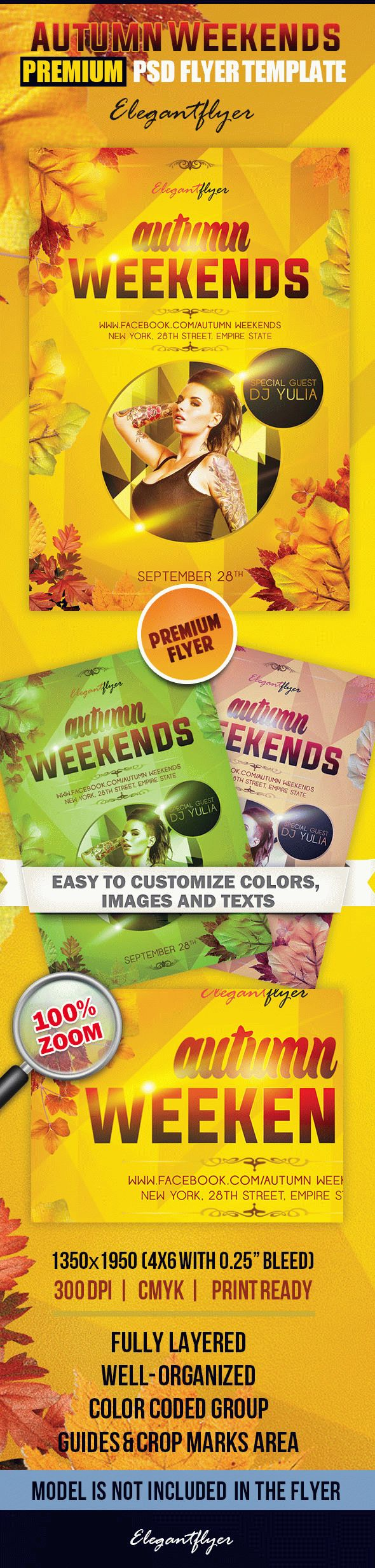 Autumn Weekends – Premium Club flyer PSD Template