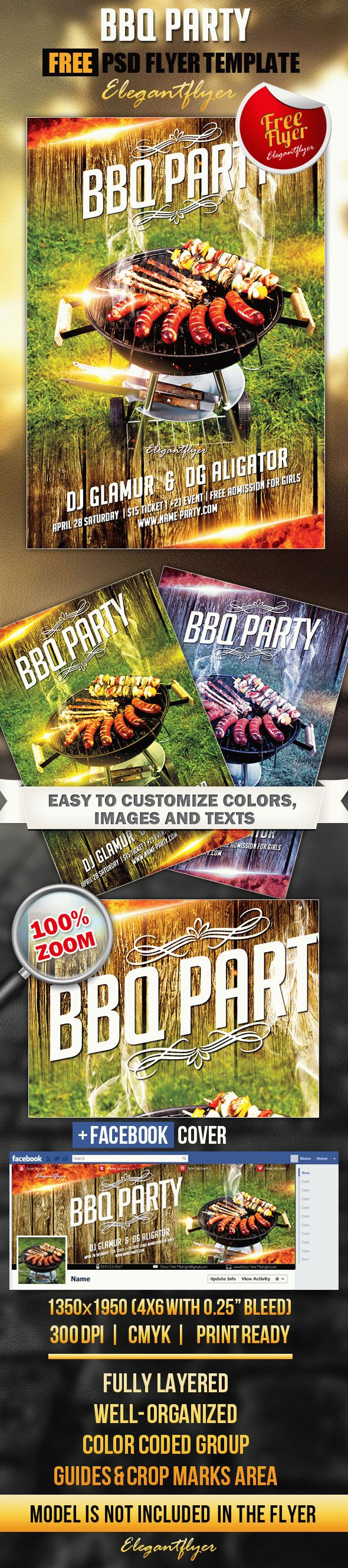 BBQ party – Free Flyer PSD Template