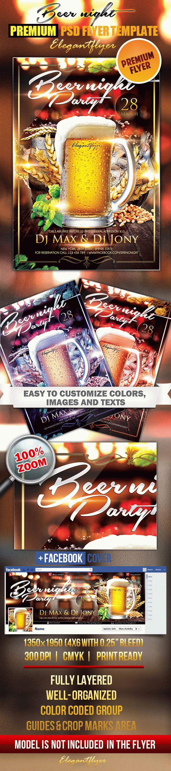 Beer night – Flyer PSD Template