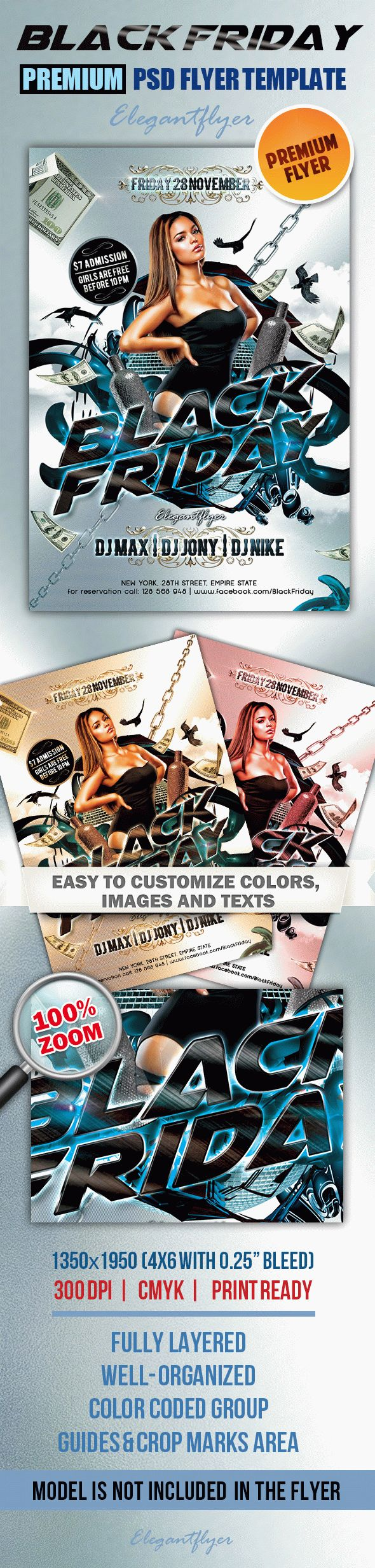 Woman Black Friday Flyer Template