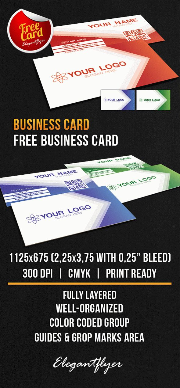 Business Card - Free PSD Template - by ElegantFlyer