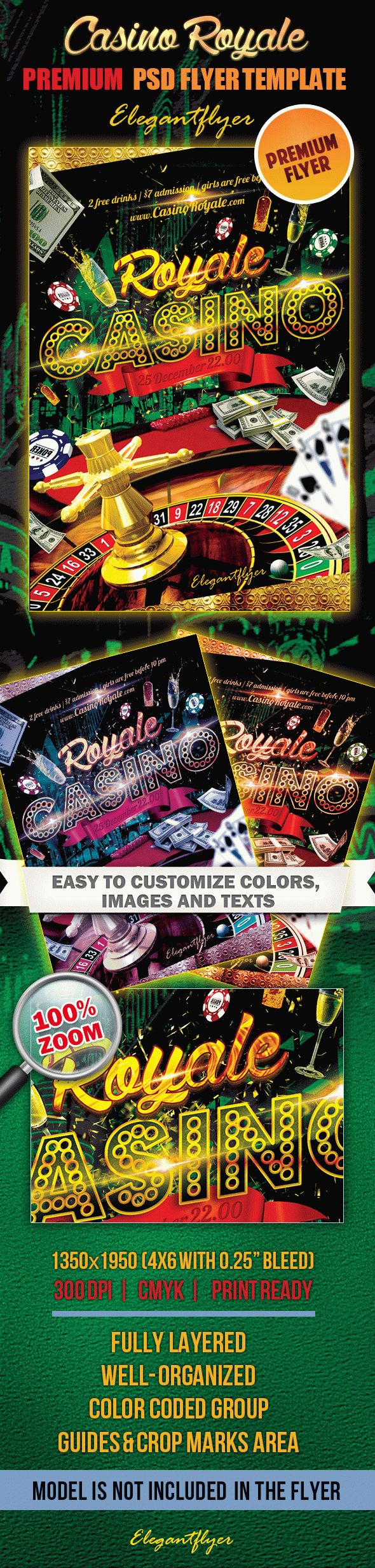 Casino Royale – Premium Club flyer PSD Template