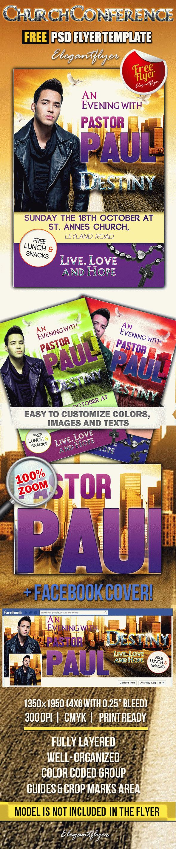 Church Conference Free Flyer PSD Template Facebook Cover by – Conference Flyer Template