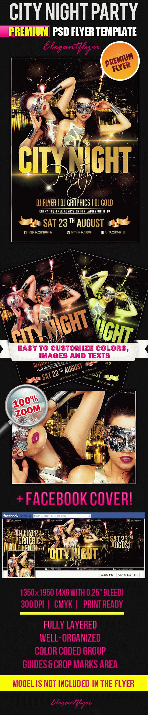 City Night Party – Flyer PSD Template