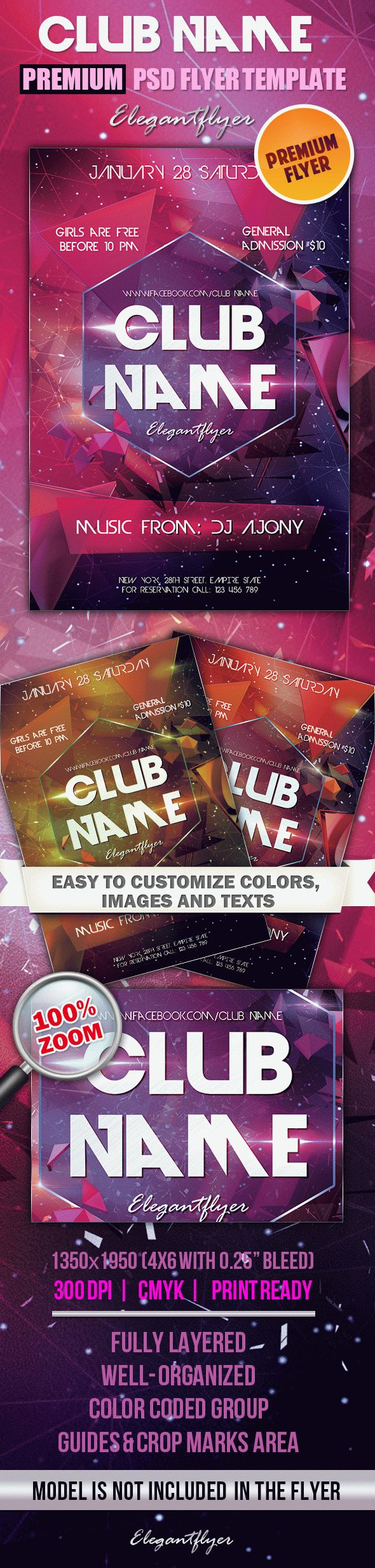Club Name – Premium Club flyer PSD Template
