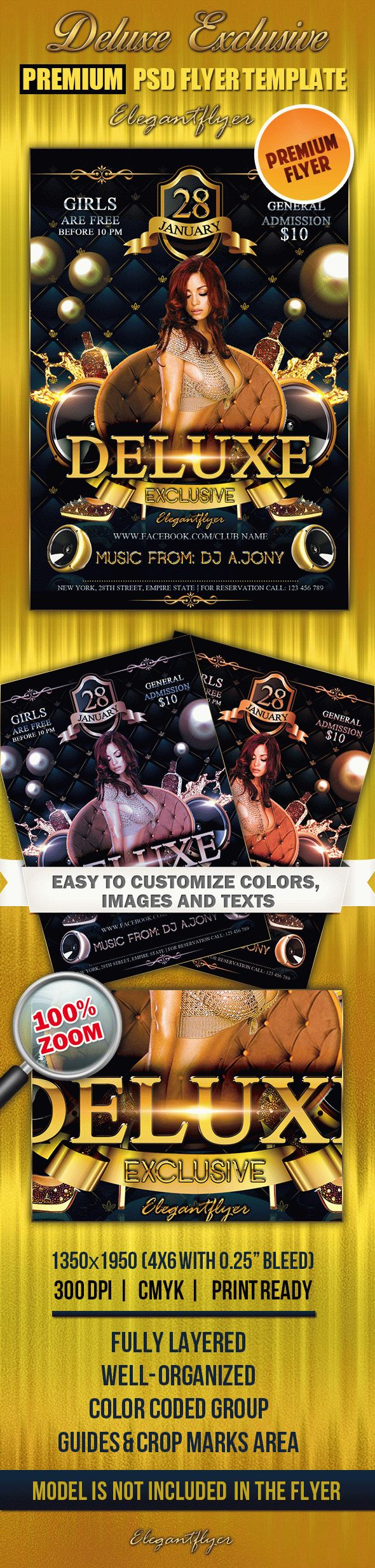 Deluxe Exclusive – Premium Club flyer PSD Template