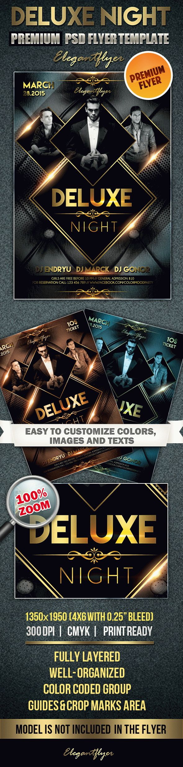 Deluxe night – Premium Club flyer PSD Template