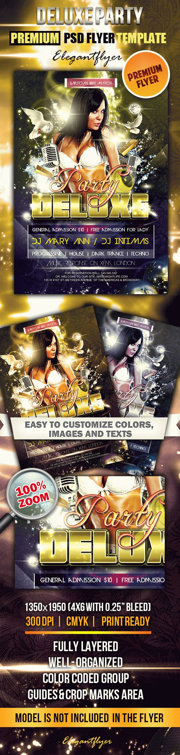 Deluxe Party – Premium Club flyer PSD Template