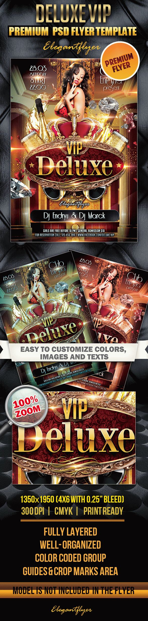 Deluxe VIP – Premium Club flyer PSD Template