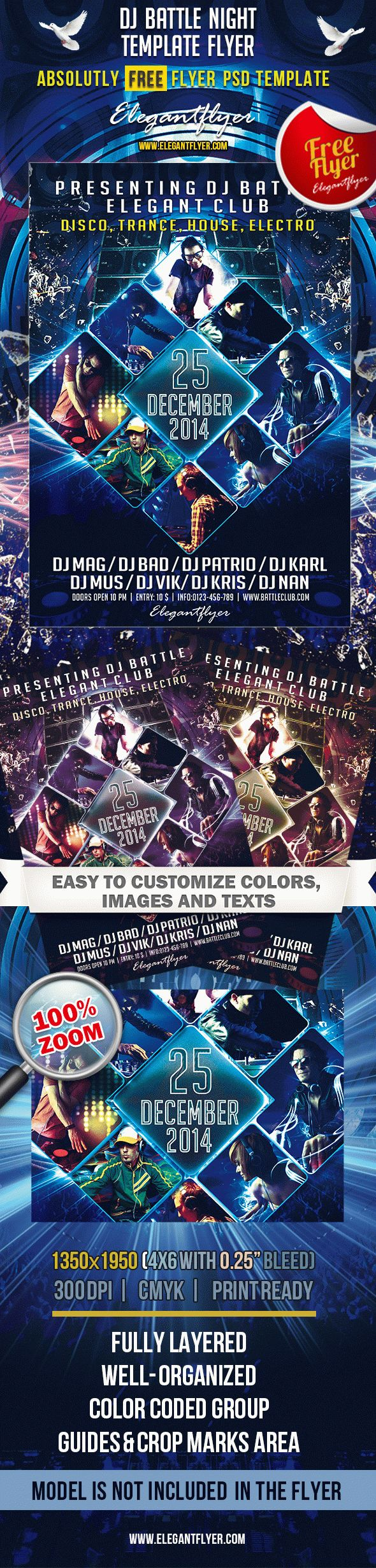 Party For Dj Battle Night Template By Elegantflyer