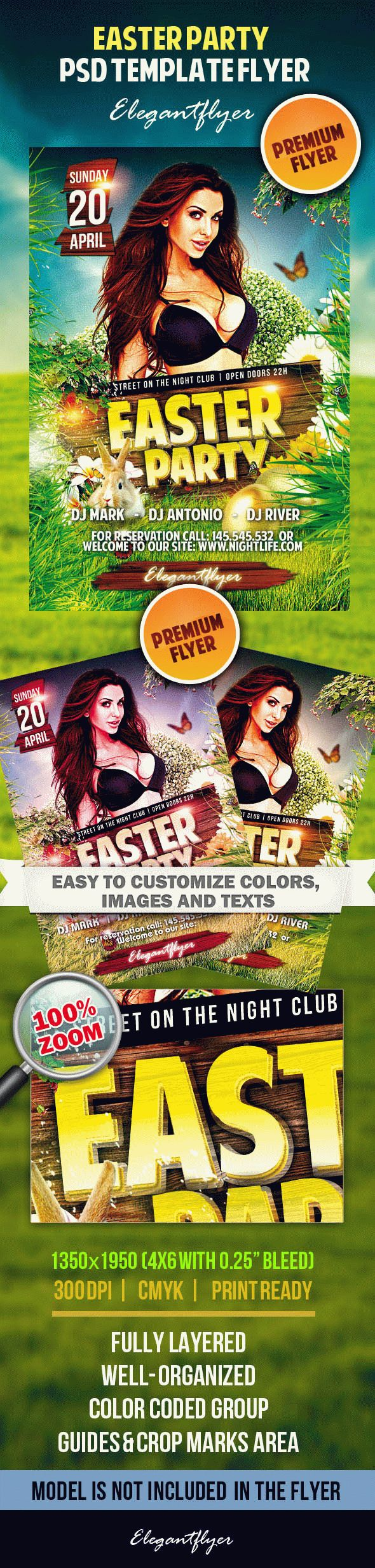 Easter Party – Premium Flyer PSD Tempate