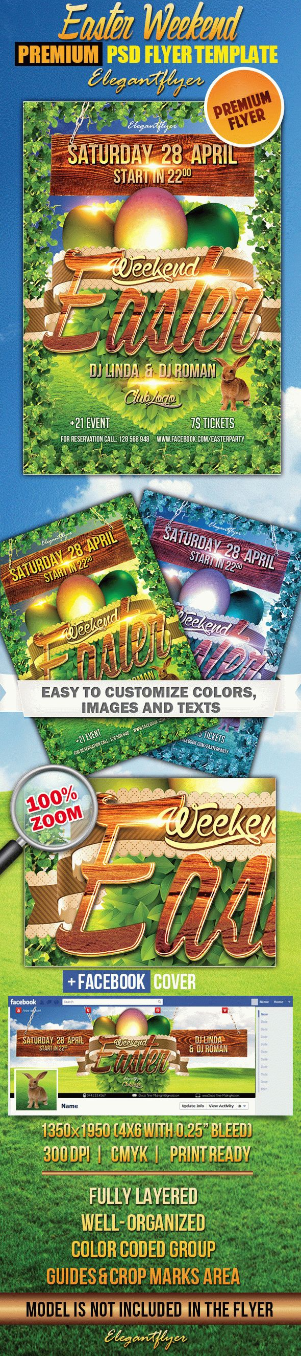 Easter Weekend 2 – Flyer PSD Template + Facebook Cover