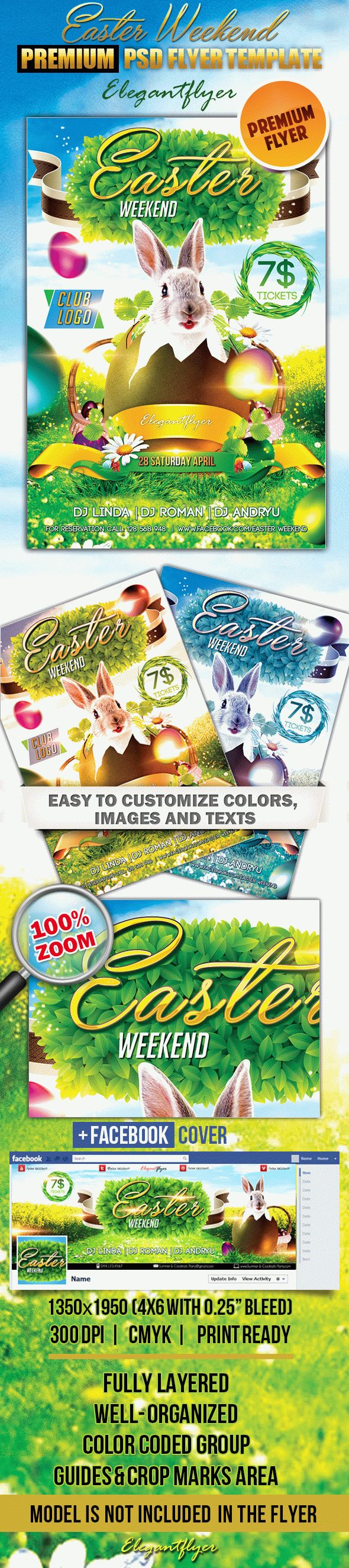 Easter Weekend – Flyer PSD Template + Facebook Cover