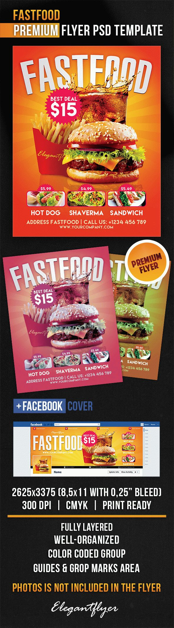 Fastfood – Flyer PSD Template