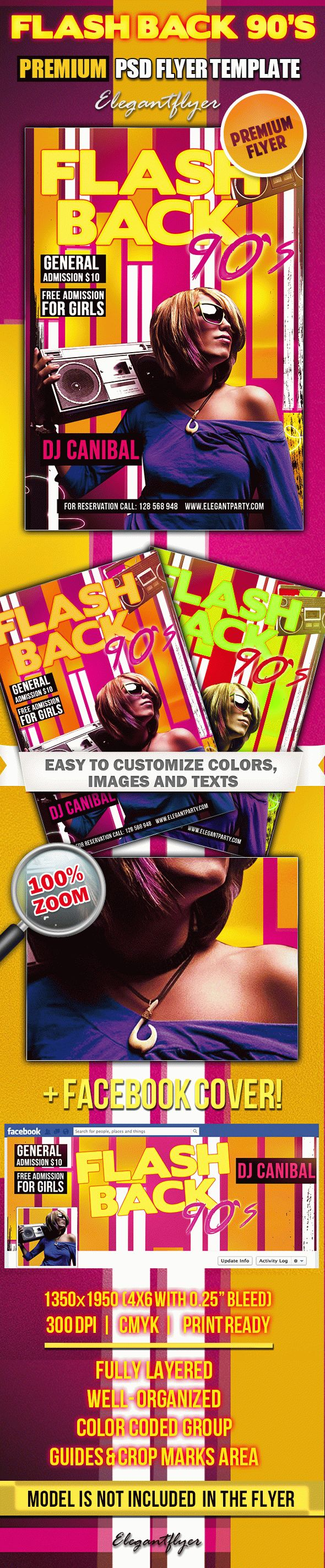 Flash Back 90's – PSD Flyer Templates