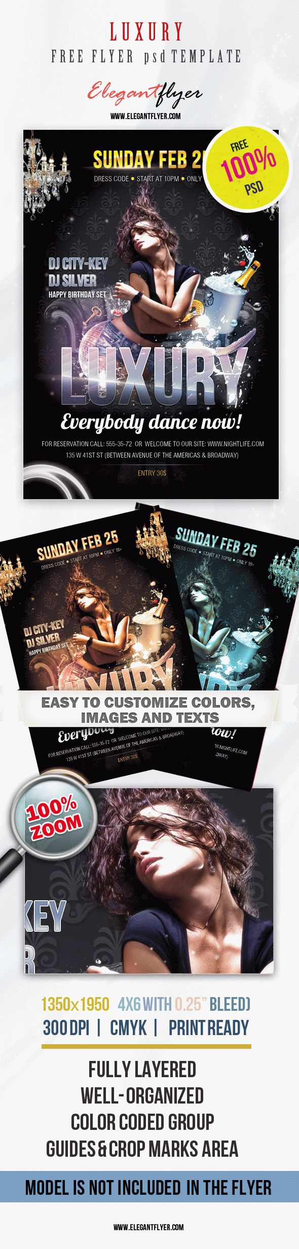 Free Flyer PSD Template – Luxury