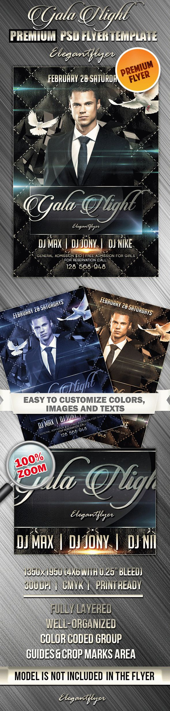 Gala Night – Premium Club flyer PSD Template
