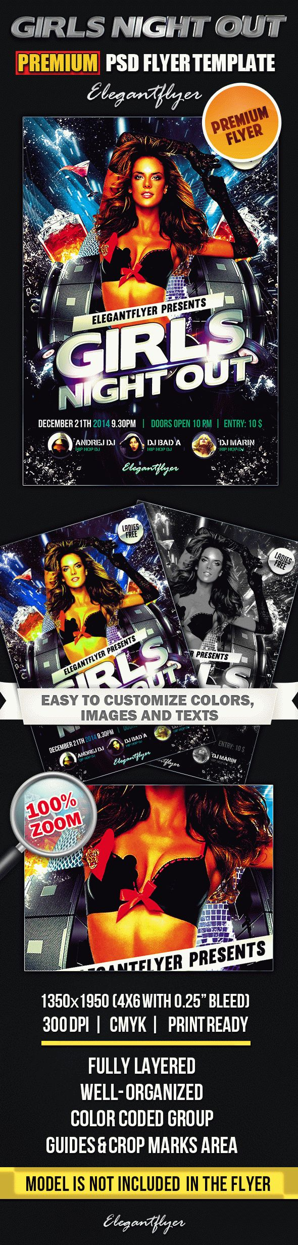 Girls Night Out – Premium Club flyer PSD Template