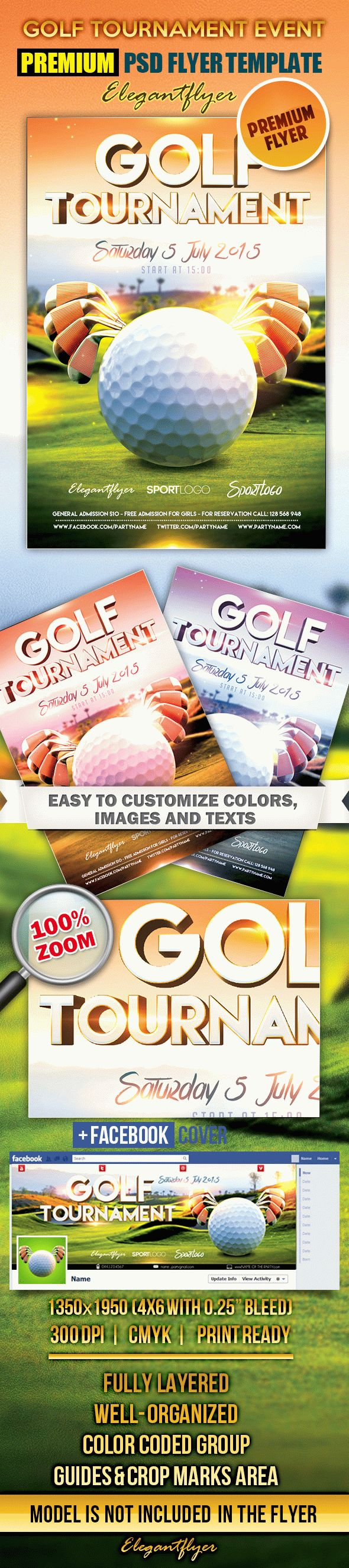 Golf tournament event flyer psd template by elegantflyer for Golf tournament program template