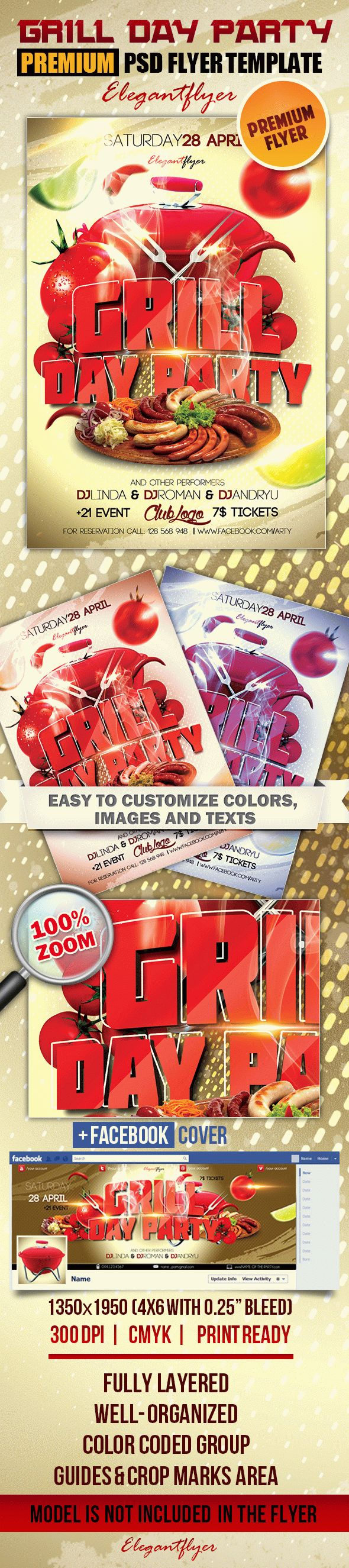 Grill Day Party – Flyer PSD Template