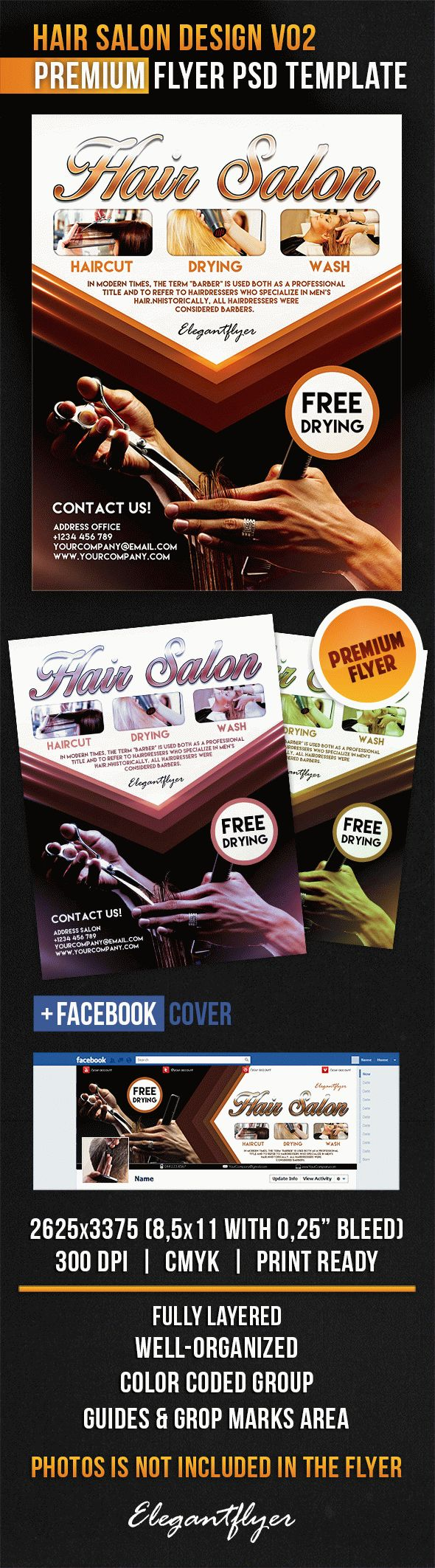 Hair Salon Design V02 – Flyer PSD Template