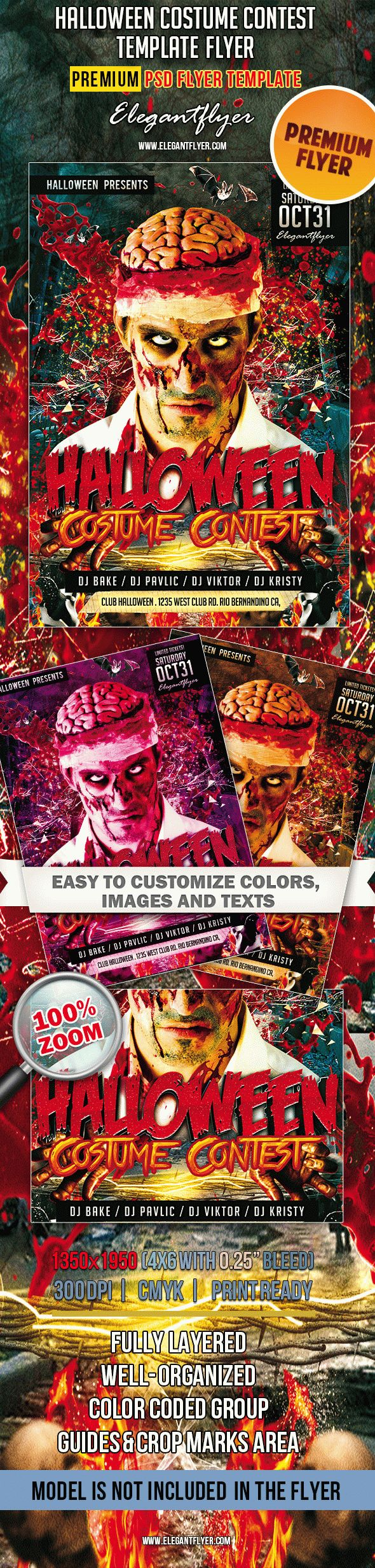 Halloween Costume Contest – Premium Club flyer PSD Template