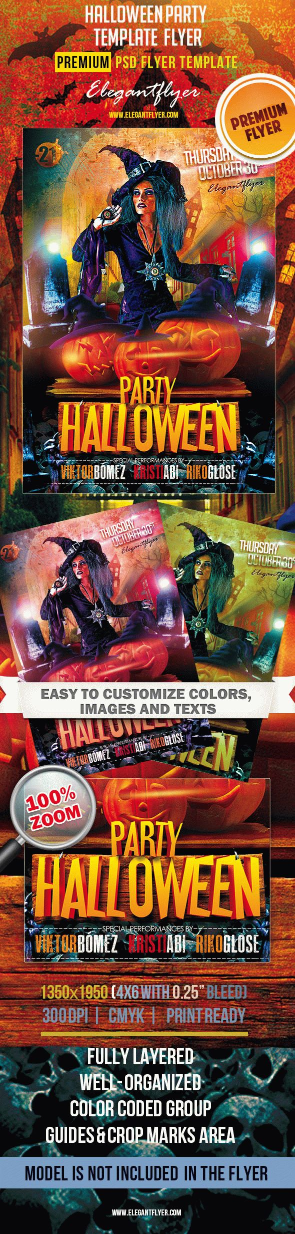 Halloween Party – Premium Сlub Flyer PSD Template