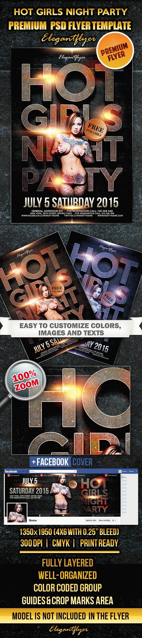 Hot Girls Night – Flyer PSD Template