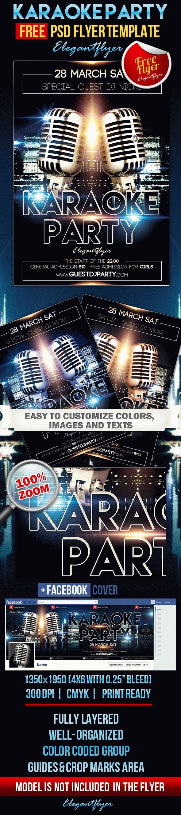 Karaoke Party – Free Flyer PSD Template