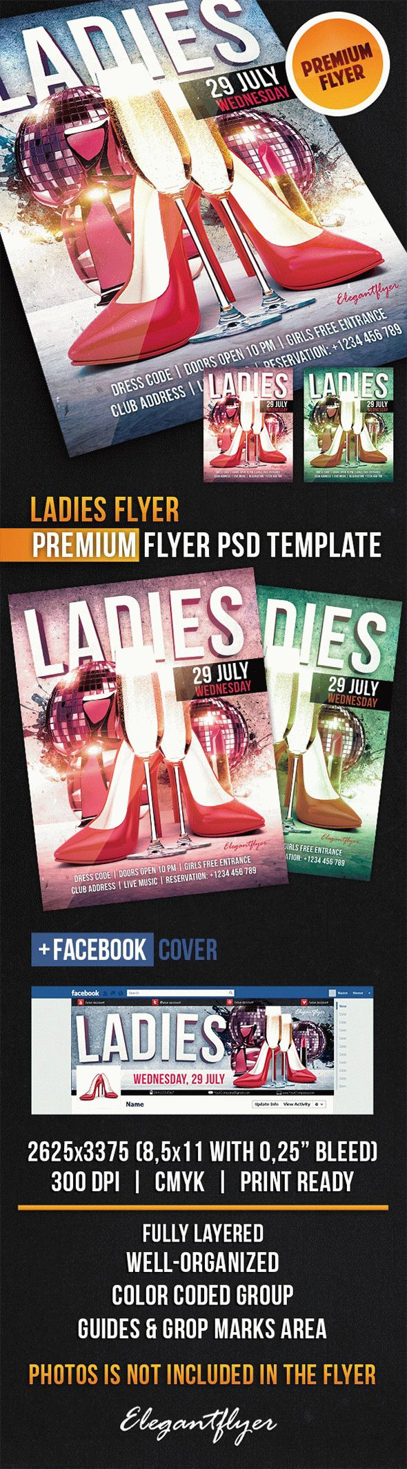 Ladies Flyer – Flyer PSD Template + Facebook Cover