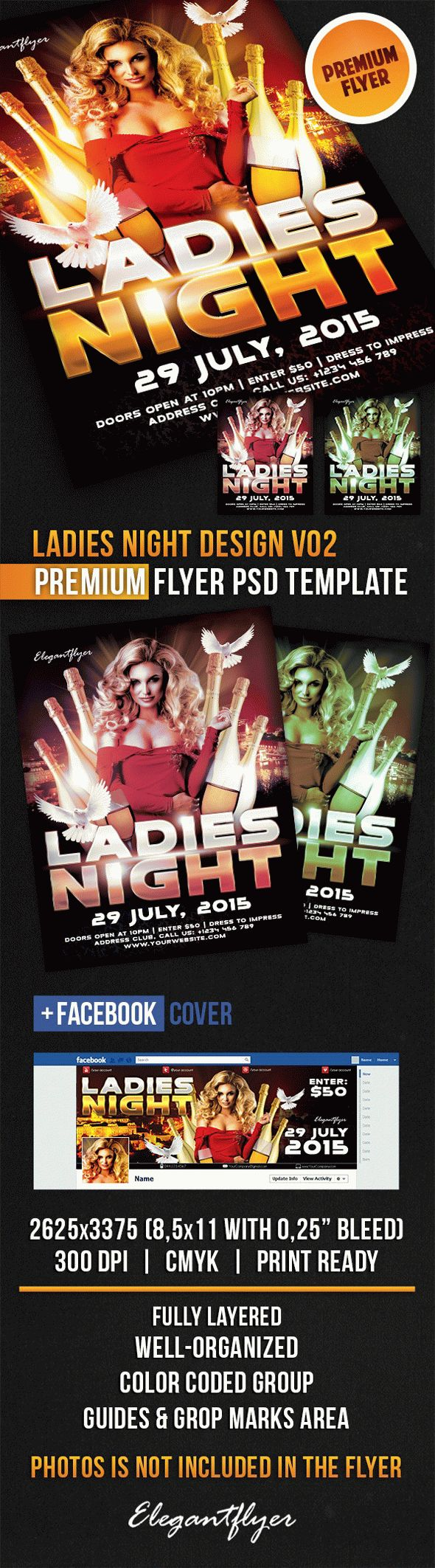 Ladies Night Design V02 – Flyer PSD Template