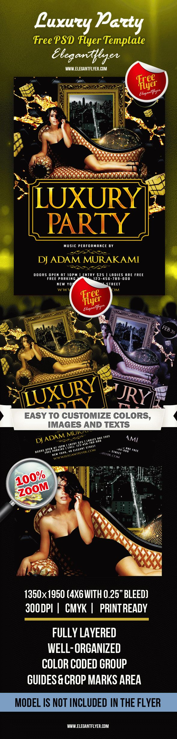 Free Flyer Luxury Party Club