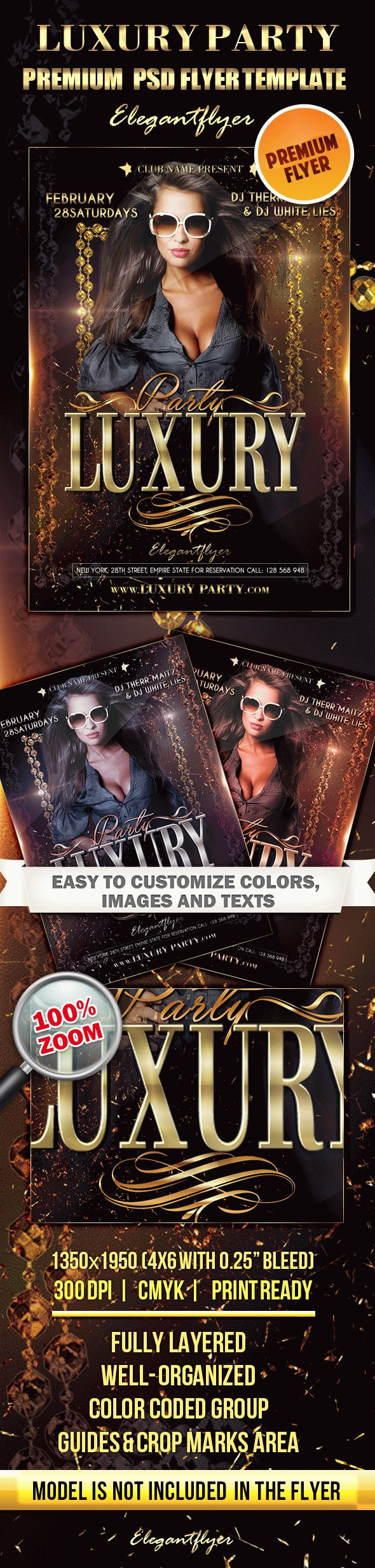 Luxury Party – Premium Club flyer PSD Template